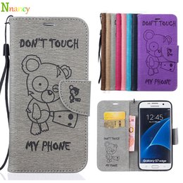 Wholesale Cartoon Leather Cover Case - Samsung Galaxy S7 Edge G935F Case, Cartoon Wallet Case Retro PU Leather Flip Bracket Shockproof Protective Cover