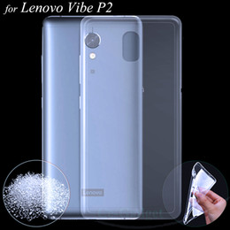 Wholesale Silicone Vibe - Wholesale- Lenovo P2 Case , Premium Transparent Clear Soft TPU Gel Skin for Lenovo Vibe P2 5.5 inch Phone's Protective Silicone Back Cover