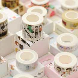 Wholesale Labels Cosmetics - Wholesale- 2016 1.5-4cm*10m Cartoon cosmetic figure washi tape DIY decorative scrapbooking planner masking tape adhesive tape label sticker
