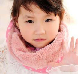 Wholesale Kids Infinity Scarves - Wholesale- 2015 warm winter scarf neck warmer children's infinity scarf ring inside Plus velvet circle scarves kids scarf