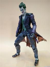 Wholesale Arkham Origins - 170613 QIUCHANY Nendoroid Wholesale Gzltf 27CM Play Arts Kai Joker Figure Batman Jack Napier Arkham Origins The Joker with weapon
