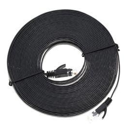 Wholesale High Quality Patch Cables - New High Quality 1M 3M 5M 10M Aurum Cables Flat CAT6 Flat UTP Ethernet Internet Network Cable RJ45 Patch LAN Cable