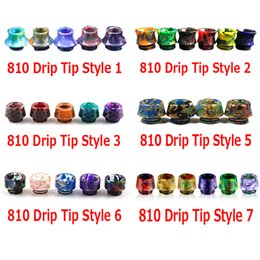 Wholesale Packaging For Retail - 810 Thread Drip Tips Cone Shape Resin Snake Skin 4 Styles Mouthpiece for SMOK TFV8 TFV12 TFV12 Prince TFV8 Big Baby Tank With Retail Package
