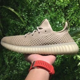 Wholesale Hollow Fish - Summer 350 V3 Boost Shoes 2017 New Hollow Knitted for Sales,Kanye West Shoes Boost v2 Triple Black White & Tan Mens Womens Sneaker