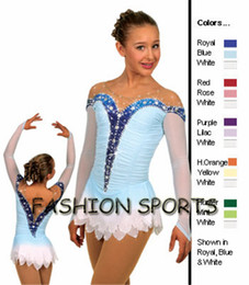Wholesale Dresses For Ice Skating - Hot Selling Ice Skating Dress For Girls Spandex Graceful New Brand Figure Skating Competition Dress Customized DR2646