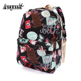 Wholesale Wholesale Rucksack Fashion - Wholesale- Women Girl Canvas School Backpacks Union Flag Butterfly Stamp Pattern Rucksack Travel Satchel Student Character Bookbag London