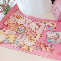 Venta al por mayor cojín del paño online-Venta al por mayor Kawaii Cartoon Kitty Melodía Paño Placemat.Kitchen Dinning al aire libre picnic lavable Tabla de tela Pad Mat.Table Cover.Home Decor
