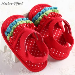 Wholesale Newborn Shopping - Wholesale- Toddler Girl Crib Shoes Newborn Flower Soft Sole Anti-slip Baby Sneakers Free Shopping F22