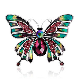 Wholesale Vintage Butterfly Pins Brooches - Vintage Jewelry Large Enamel Esmaltes Butterfly Brooches Corsage Brooch Lot Wedding Broach Violetta Insect Hijab Pin Up Broches 170738