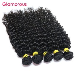 Glamorous Malaysian Hair Weaves 100g pc Jerry Curly Hair Bundles 4pcs Natural Color High Quality Brazilian Peruvian Indian Virgin Human Hair Coupon