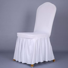 Wholesale Chair Covers Pleats - Pleated skirt elastic sleeve cover Hotel hotel chair chair wedding chair sets banquet chairs sets of cover