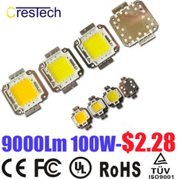 Wholesale red led flood lights - Free Shipping 100pcs Epistar Chip COB LED 10W 20W 30W 50W 70W 80W 100W Used for Flood Light Cold White 6000-6500K On Stock