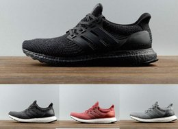 Wholesale Continental Quality - 2017 Ultra Boost 3.0 Real Boost Top Quality Continental Running Shoes Sports Triple Black White Primeknit Womens Mens Sneakers Size 36-46