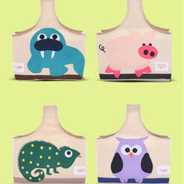 Wholesale Material Shopping Bags - Handbag Eco Friendly Maternal And Baby Bag Outdoor Fashion Safe Canvas Material Cartoon Pattern Shopping Bags Hot Sale 23hm F R