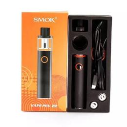 Wholesale Ego Starter Led - Smok Vape Pen 22 Starter Kit All-in-one Vapor System LED indicator Design With 1650mah Battery 22mm Diameter Vaporizer ego aio stick v8 Kit