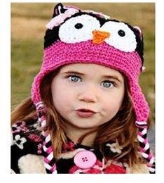 Wholesale Wool Owl Beanies - 30pcs Toddler Owl Ear Flap Crochet Hat Children Handmade Crochet OWL Beanie Hat Handmade OWL Beanie Kids Hand Knitted Hat