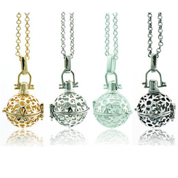 Wholesale Brass Chimes - Mix Order Pendants Necklace Baby Chime Music Balls 3 Color Snowflake Cage Angel Necklace For Women Jewelry
