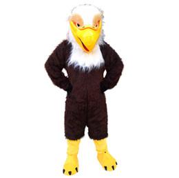 Desenhos animados do traje da mascote da águia on-line-Brown Eagle Mascot Costumes Personagem De Banda Desenhada Adulto Sz 100% Real Imagem 009