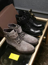 Wholesale Mens Black Motorcycle Boots - 2017 New Designer Handmade Luxury Men Leather Boots Sneaker Shoes France Strass Mens Flat Boots Leather Sneaker Shoes for Men Size 38 - 44