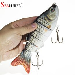 Wholesale Segment Swimbait - New Artificial Bait Big Fishing Lure 6 Segment Swimbait Crankbait Hard Bait Slow 110g 20cm Fish Large hooks size