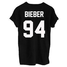 Wholesale Rock Fashion Boy - Wholesale- 2016 Fashion Justin Bieber T Shirt Mens Boy Rock Hip Hop Short Sleeve Name And Age T-shirt Tumblr Clothing