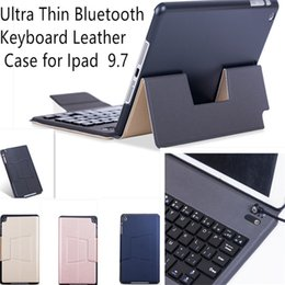Wholesale Thin Case For S3 - Ultra Thin Wireless Bluetooth keyboard leather Case for Ipad pro 9.7 10.5 2017 air 2 3 4 Mini tab S3 T820