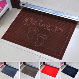 Wholesale European Floor Rugs - Welcome Foot design Soft bathroom carpet Non Slip Dust Doormat Floor Rug bath mat living room bathroom accessories