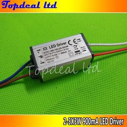 Wholesale 3x3w Led Chip - Wholesale-1pcs Waterproof Power Supply AC 110 220V LED Driver 2-3x3W 10W 900mA for 10w High power led chip light