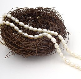 """Wholesale Strings For Pearl Beads - String Waterdrop Pearl Beads Natural Pearls Irregularly Materials For Making Jewelry Inci Boncuk Diy Craft Perle 5-7mm 13"""""""