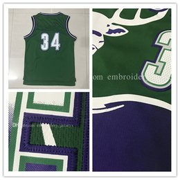 Wholesale Adult Jerseys - Wholesale Retro Men's #34 Ray Allen Basketball Jersey Throwback Allen jerseys Adult Embroidery Logos Fast free shipping