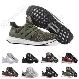 Wholesale White Genuine Leather Shoes - (With Box) Ultra Boost 3.0 Core Black real boost Mens and women Casual Shoes Running shoes for men sports ultraboost ronnie fieg Size 36-47