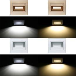 éclairage de nuit des escaliers Promotion La lampe de mur a mené les lumières d'escalier SMD5730 1.5W AC85-260V a mené la lumière de nuit d'éclairage de plancher Pour le canal, étape d'escalier de COB