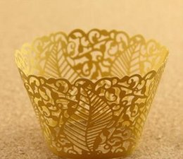 Wholesale Halloween Cupcake Wrappers - 120pc Cupcake cake wrappers cup cake art WRAPPER for wedding and chritmas halloween holiday party decoration 37E