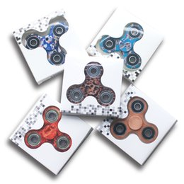 Wholesale Triangular Boxes - 2017 5 colors New camo colorful Fidget Spinner toy Hand triangular spinner Toy For Decompression Anxiety Toys with retailed box