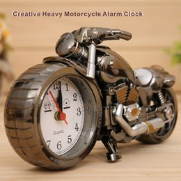 Wholesale Plastic Motorcycle Toys - Creative Fashion Cool Motorcycle Alarm Clock, Home Accessories, Children's Toys Gifts, Fashion Furnishings,Novelty Ornaments,Alarm Clock.