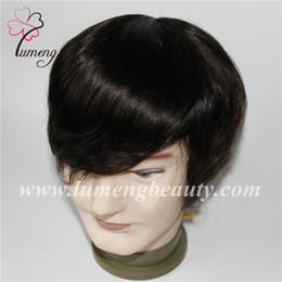 Тонкие кружева парики кожи онлайн-Remy человека мужские парик моно кружева передней тонкой кожи npu парик системы волос кожи замена волос