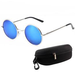 Wholesale Uv Polarised Sunglasses - Wholesale- Hot 2017 Retro Round Men Sunglasses Brand Original Anti-UV Metal Individuality Sunglasses Fashion Women Polarised Glasses