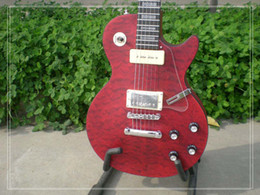 Wholesale Guitar Wavy - Top quality Custom Solid 6 Strings red wavy top Electric Guitar Best Selling Free Shipping