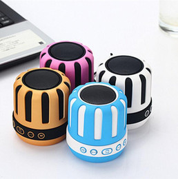 Wholesale Mini Portable Laptop Stand - Mini Stereo Audio Sound With Microphone FM Desktop Speakers Portable Wireless Bluetooth Speakers for Mobile Phone Tablet Laptop