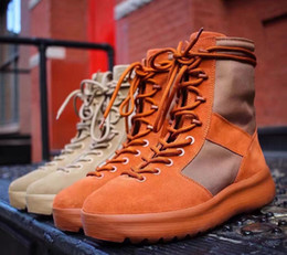 Wholesale Calf Boots Men - 2017 Kanye West Boost 1:1 Quality New Season 3 Suede Leather Snow Thick Soled Men High Boots 350&350 v2&750 boost