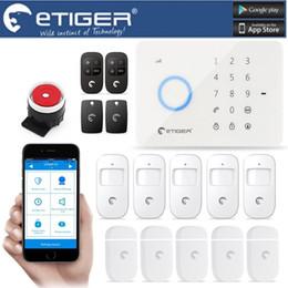 Systèmes de sécurité intrus en Ligne-LS111- ES-S3B eTIGER LCD sans fil câblé GSM / SMS Intruder Cambrioleur pour système d'alarme de sécurité à la maison comme chuango G5