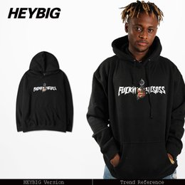 Wholesale Chinese Hood - Wholesale- Gun print awesome Hood 2016 Nov. HEYBIG new Fashion Men Hoodies Street Tracksuit Hip hop Youth Hooded Sweatshirt Chinese Size