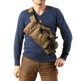 Wholesale Tactical Molle Fabric - 600D Waterproof Oxford fabric Climbing Bags Outdoor Military Tactical Waist Pack Molle Camping Hiking Pouch Bag
