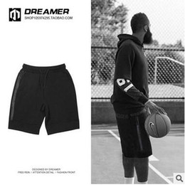 Wholesale Summer Shorts Teenagers - Summer Man's Thin Black Shorts Casual Loose Sportwear Shorts Pants Teenager Fashion Streetwear Cotton Shorts Basketball Training Pants