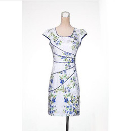 Wholesale Qipao Tops - Top Fashion 2017 New Chinese Classical Dress Cheongsam Outfit Knitting Flexibly Self-cultivation Qipao Runway Dresses Slim