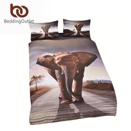 Wholesale Duvet Cover Elephant - Wholesale-3D Bedding Sets Elephant Bedding Duvet Cover Set Soft Unique Design Queen Elephant Bedding for Adults Promotion Price