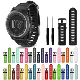 Wholesale Garmin Black - 26mm Sport Rubber Silicone Strap Watchband for Garmin Fenix 3 Fenix 3R Fenix 5X Watch Bands Wristbands