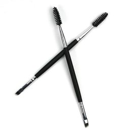 eyebrow brushes. wholesale 1pc makeup tools double eyebrow brush with comb disposable eyelash mascara applicator wand uk brushes