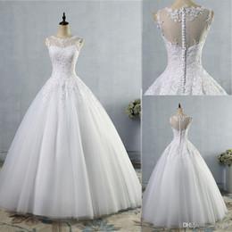 Wholesale castle princess bride - lace White Ivory A-Line Wedding Dresses for bride Dress gown Vintage plus size Customer made size 2-26W