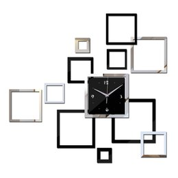 Wholesale Calendar Stickers - Wholesale-2016 Wall Clock Reloj De Pared Home Decor Watch New Arrival Acrylic Modern Design Clocks Videos Stickers Hot Sale Freeshipping